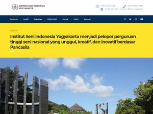 Indonesian Institute of the Arts, Yogyakarta Screenshot