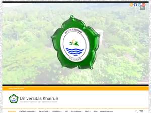 Universitas Khairun's Website Screenshot