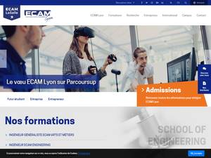 ECAM Lyon's Website Screenshot
