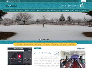 Ayatolah Borujerdei University's Website Screenshot