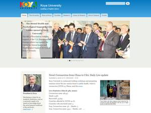 Koya University's Website Screenshot