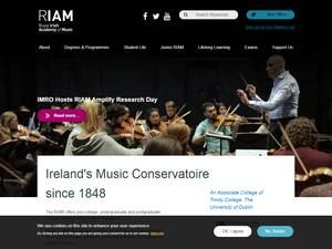 Royal Irish Academy of Music's Website Screenshot