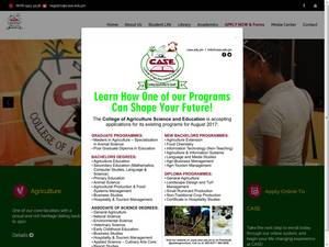 College of Agriculture Science and Education's Website Screenshot