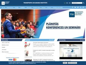 Transporta un sakaru instituts's Website Screenshot