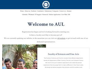 Arts, Sciences and Technology University in Lebanon's Website Screenshot
