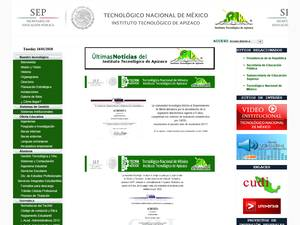 Instituto Tecnológico de Apizaco's Website Screenshot
