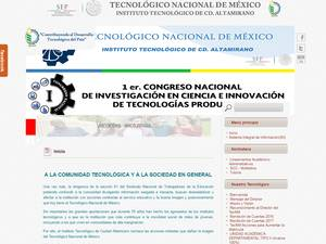 Instituto Tecnológico de Ciudad Altamirano's Website Screenshot