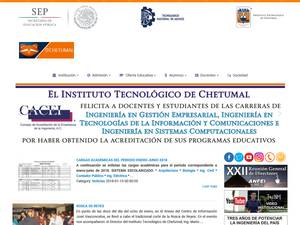 Instituto Tecnológico de Chetumal's Website Screenshot