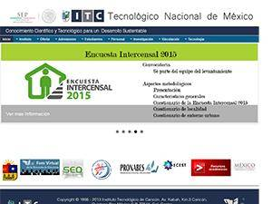 Instituto Tecnológico de Chiná's Website Screenshot