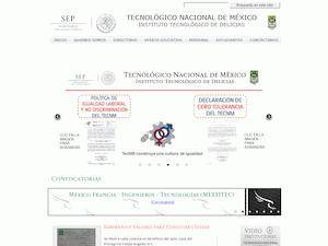 Instituto Tecnológico de Delicias's Website Screenshot