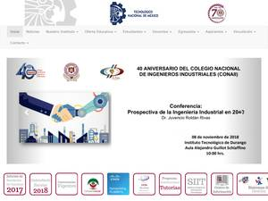 Instituto Tecnológico de Durango's Website Screenshot
