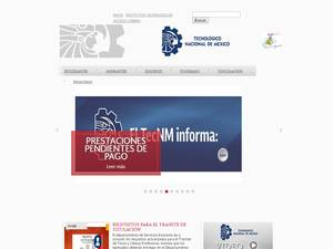 Instituto Tecnológico de Ensenada's Website Screenshot