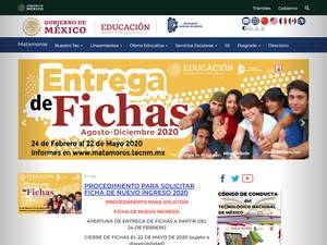 Instituto Tecnológico de Matamoros's Website Screenshot