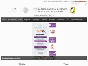 Instituto Tecnológico de Orizaba's Website Screenshot