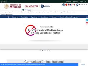 Instituto Tecnológico de Pachuca's Website Screenshot