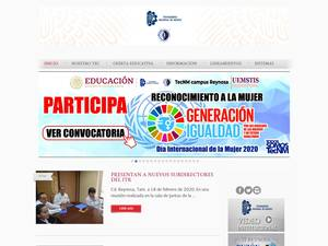 Instituto Tecnológico de Reynosa's Website Screenshot