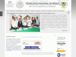 Instituto Tecnológico de Tapachula's Website Screenshot