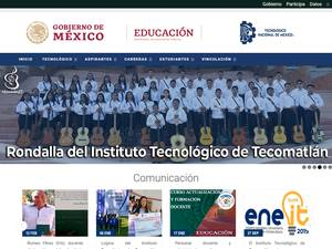 Instituto Tecnológico de Tecomatlán's Website Screenshot