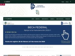 Instituto Tecnológico de Tláhuac's Website Screenshot