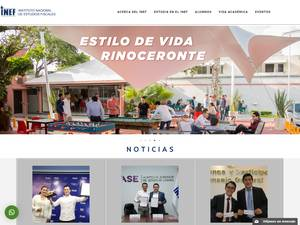 Instituto Nacional de Estudios Fiscales's Website Screenshot