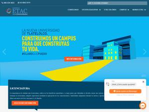 Universidad ETAC's Website Screenshot