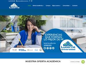 Universidad Lucerna S.C.'s Website Screenshot