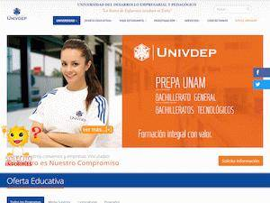 Universidad del Desarrollo Empresarial y Pedagógico's Website Screenshot