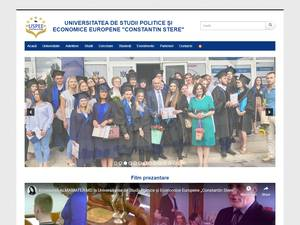 Universitatea de Studii Politice si Economice Europene's Website Screenshot