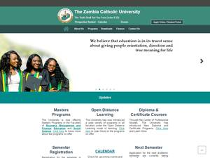 Zambia Catholic University Screenshot