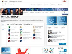 Universidad Bolivariana de Venezuela's Website Screenshot