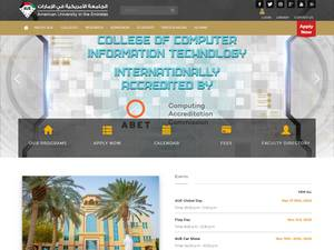 American University in the Emirates's Website Screenshot