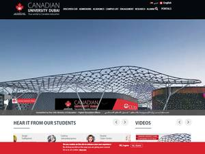 Canadian University of Dubai's Website Screenshot