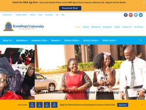 Kyambogo University's Website Screenshot