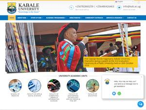 Kabale University's Website Screenshot