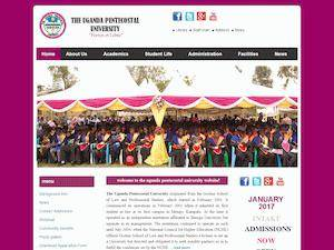 Uganda Pentecostal University's Website Screenshot
