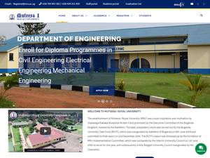Muteesa I Royal University's Website Screenshot