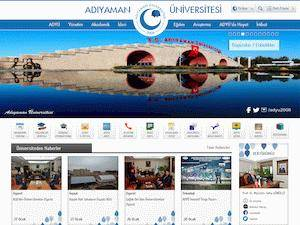 Adiyaman Üniversitesi's Website Screenshot
