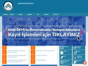 Çankiri Karatekin Üniversitesi's Website Screenshot