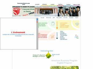 Université Montplaisir Tunis's Website Screenshot