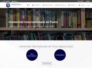 Université Internationale de Tunis's Website Screenshot