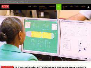 The University of Trinidad and Tobago's Website Screenshot