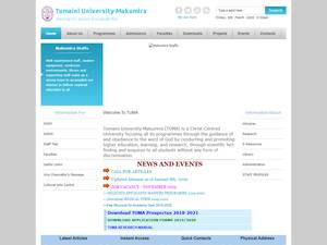Tumaini University Makumira's Website Screenshot