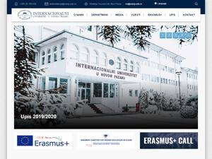 International University of Novi Pazar's Website Screenshot