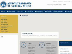 Adventist University of Central Africa's Website Screenshot