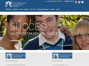 Universitatea Athenaeum din Bucuresti's Website Screenshot