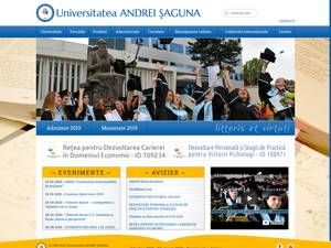 Universitatea Andrei Saguna's Website Screenshot