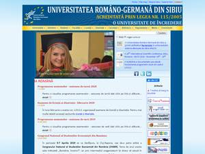 Universitatea Româno-Germana din Sibiu's Website Screenshot
