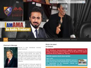 AMA International University Bahrain's Website Screenshot