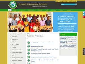 Federal University, Otuoke's Website Screenshot
