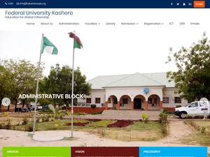 Federal University, Kashere's Website Screenshot